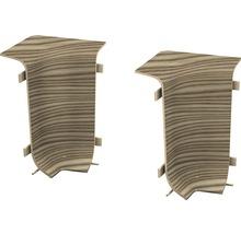 Angles intérieurs pour plinthe goulotte à clipser épicéa canadien 50 mm-thumb-0
