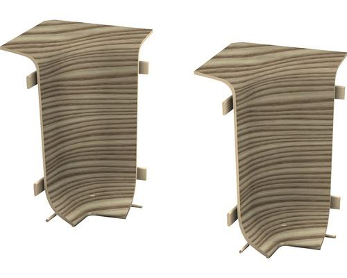Angles intérieurs pour plinthe goulotte à clipser épicéa canadien 50 mm-0