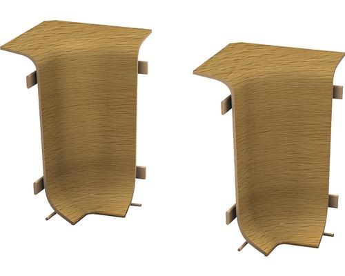 Angles intérieurs pour plinthe goulotte à clipser hêtre foncé 50 mm-0