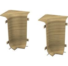 Angles intérieurs pour plinthe goulotte à clipser chêne rustique 50 mm-thumb-0