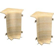 Angles intérieurs pour plinthe goulotte à clipser érable 50 mm-thumb-0