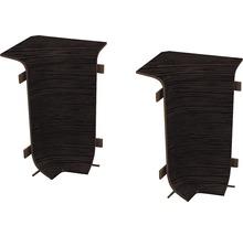 Angles intérieurs pour plinthe goulotte à clipser wengé 50 mm-thumb-0