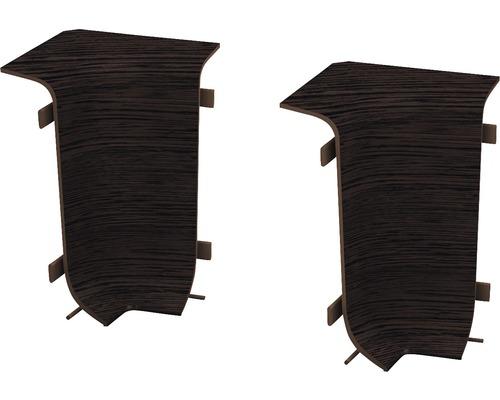 Angles intérieurs pour plinthe goulotte à clipser wengé 50 mm-0