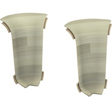 Angles intérieurs pour goulotte Woodstock blanc 60 mm-thumb-0