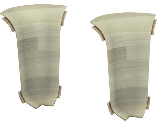Angles intérieurs pour goulotte Woodstock blanc 60 mm-0
