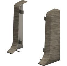 Embouts pour plinthe goulotte à clipser acacia Vintage 50 mm-thumb-0