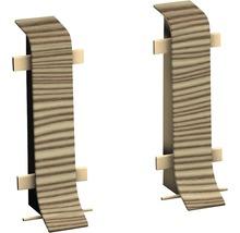Connecteur pour plinthe goulotte à clipser épicéa canadien 50 mm-thumb-0