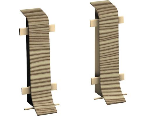 Connecteur pour plinthe goulotte à clipser épicéa canadien 50 mm-0