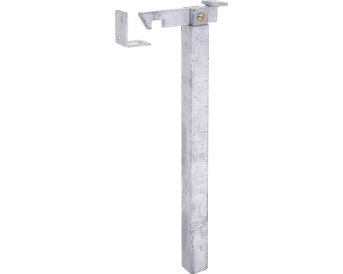 Arrêt de portail réglable en hauteur pour montage au sol 168 mm