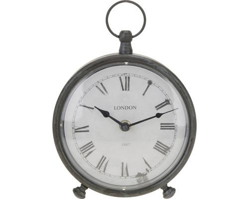 Horloge de table en métal gris 16,5cm de Ø