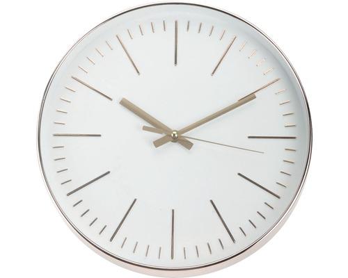 Horloge murale cuivre-blanc de 30cm de Ø