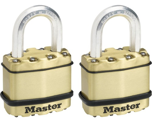 Cadenas Master Lock Excell M1BEURT, lot de 2