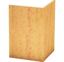 Angle de protection PVC rigide hêtre non perforé 30x30x2500 mm-thumb-0