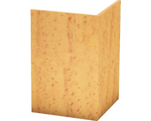 Angle de protection PVC rigide hêtre non perforé 30x30x2500 mm-0