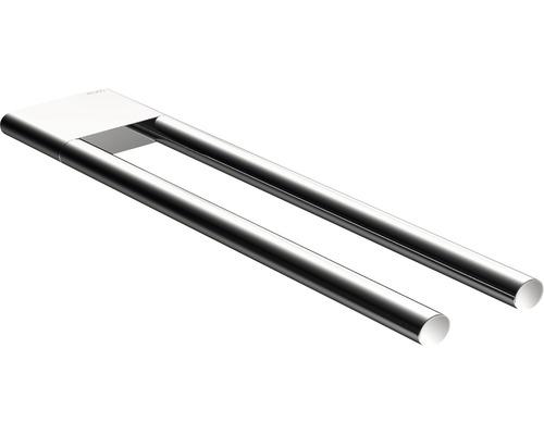 Porte-serviettes KEUCO Edition 400 2 bras 34 cm fixe chrome 11519