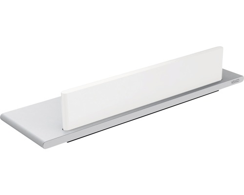 Tablette de douche KEUCO Edition 400 avec raclette pour verre 32,8 cm aluminium, argent anodisé 11559