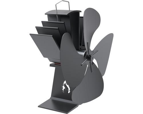 Ventilateur pour cheminée Aduro régime thermique noir