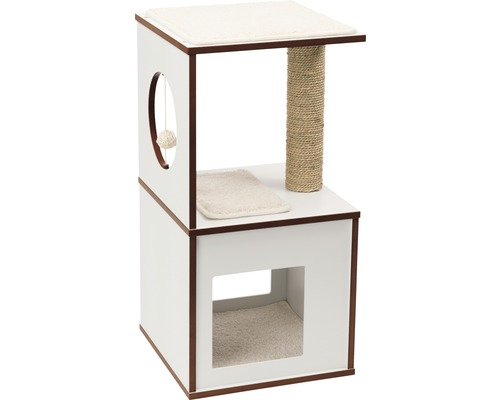 Griffoir Catit Vesper V-box small 37 x 37 x 72,5 cm blanc