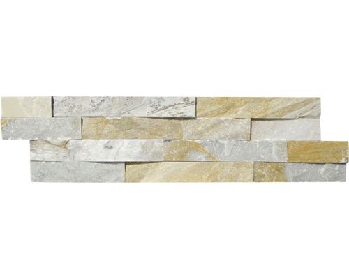 Pierre de parement, quarzite beige, 15x60 cm