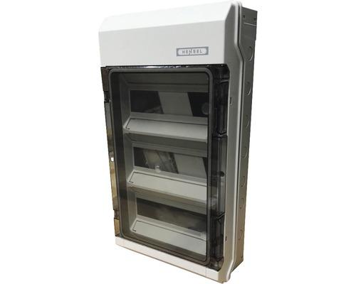 Coffret électrique Hensel 3 rangées 36 unités modulaires gris KV9336