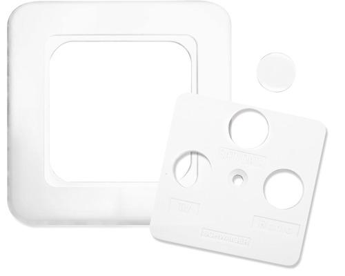 Plaque 2/3trous blanc Schwaiger ADE/ADR532
