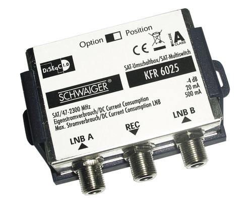 Interrupteur DiSEqC 2.0 2>1 Schwaiger KFR6025531