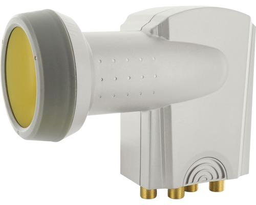 Quattro LNB numérique Sun Protect gris clair Schwaiger SPS6918531