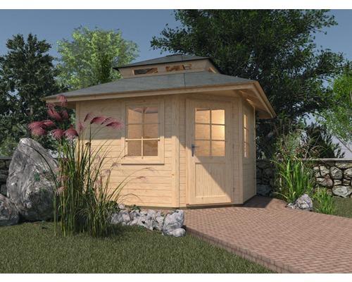 Abri de jardin weka 149 pentagonal avec élément de toiture de 238 x ...