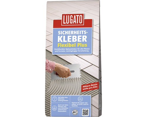 Fliesenkleber Lugato Sicherheitskleber Flexibel Ultra Plus 3,5 kg