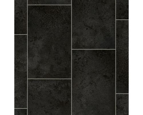 PVC Vaila carreau noir 300 cm de largeur (article au mètre)