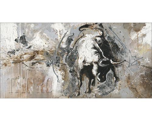 Tableau sur toile taureau 60x120 cm