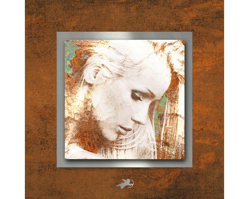 Tableau en métal Passion rouille II 50x50 cm