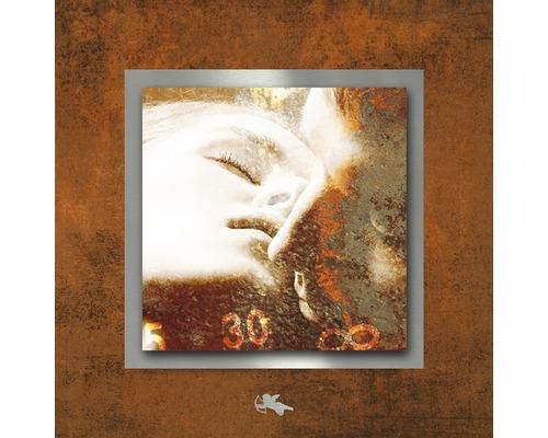 Tableau en métal Passion rouille I 50x50 cm