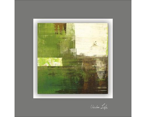 Tableau en métal Green Fields II 50x50 cm