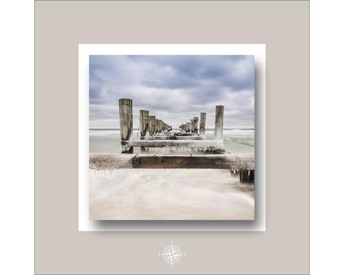 Tableau en métal Magic Beach 50x50 cm