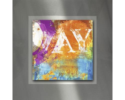 Tableau en métal Colourmix II 50x50 cm