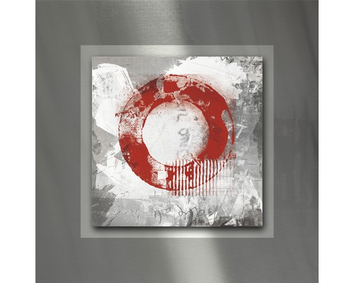 Tableau en métal Red Circle I 50x50 cm