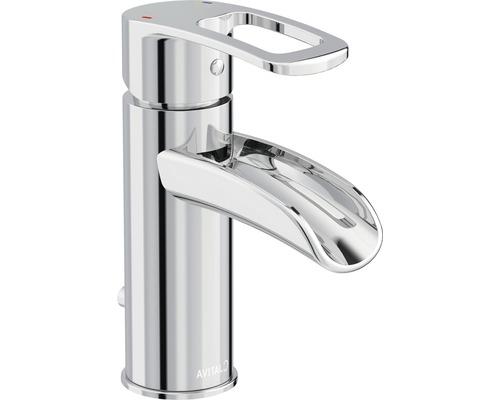 Robinet de lavabo Avital Khone chromée avec bonde de vidage Push-open