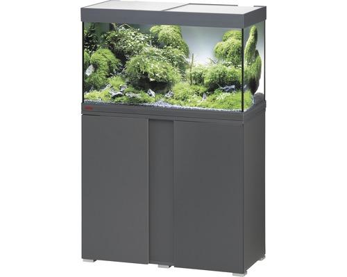 Kit complet d''aquarium EHEIM Vivaline 126 LED avec éclairage à LED, chauffage, filtre et meuble bas anthracite