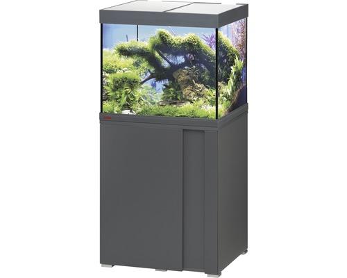 Kit complet d''aquarium EHEIM Vivaline 150 LED avec éclairage à LED, chauffage, filtre et meuble bas anthracite