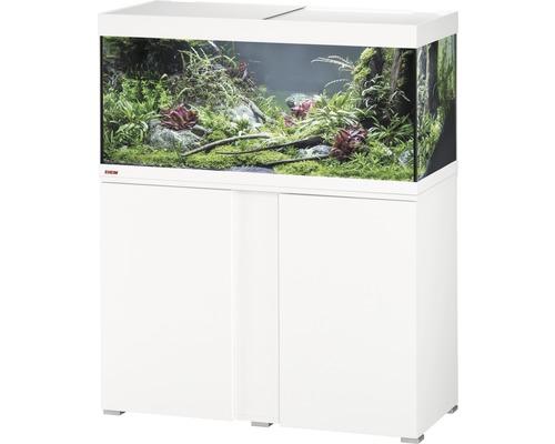 Kit complet d''aquarium EHEIM Vivaline 180 LED avec éclairage à LED, chauffage, filtre et meuble bas blanc