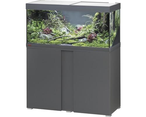 Kit complet d''aquarium EHEIM Vivaline 180 LED avec éclairage à LED, chauffage, filtre et meuble bas anthracite