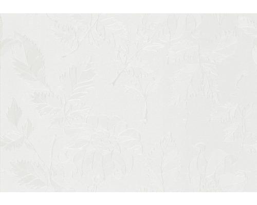 Nappe damassée blanche largeur 138cm (marchandise au mètre)