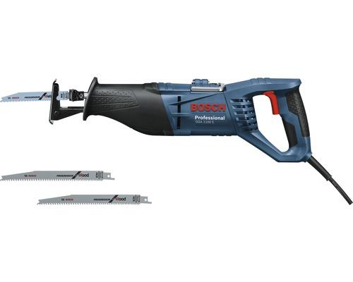 Scie sabre Bosch Professional GSA 1100 E avec boîte à outils et 3x lames de scie sabre