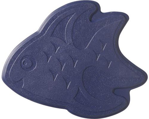Mini Tapis antidérapant pour baignoire RIDDER poissons 11 x 13 cm bleu marine
