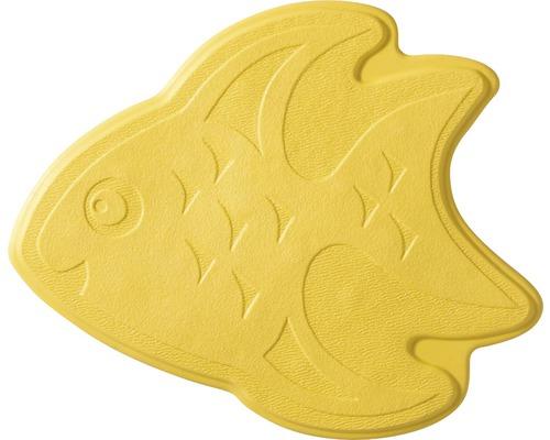 Mini Tapis antidérapant pour baignoire RIDDER poissons 11 x 13 cm jaune