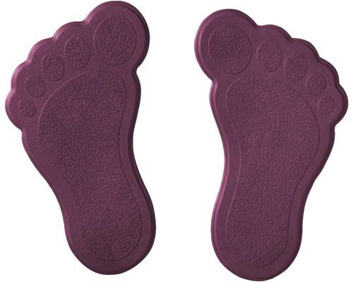 Mini Tapis antidérapant pour baignoire RIDDER pieds 11 x 13 cm violet