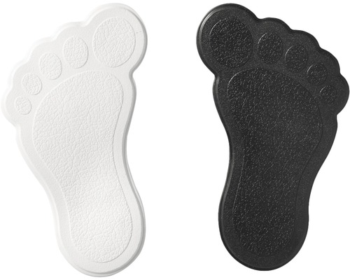 Mini Tapis antidérapant pour baignoire RIDDER pieds 11 x 13 cm noir-blanc