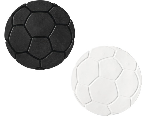 Mini Tapis antidérapant pour baignoire RIDDER football 10 cm noir-blanc