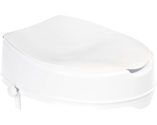 Rehausse de siège de WC avec couvercle blanc